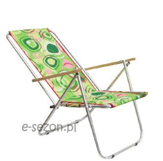 leżak plazowy krzesło - 2zielone kółka