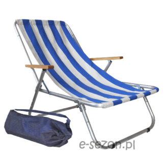Tradycyjny leżak plażowy składany
