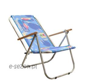 Wytrzymałe, aluminiowe krzesło plażowe