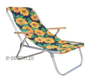 leżak plażowy wytrzymały - słonecznik