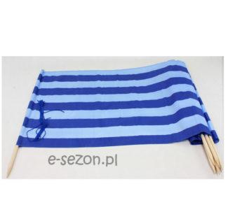 parawan plażowy niebieskie pasy