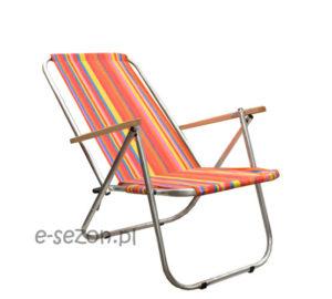 Krzesło plażowe składane na pół, lekkie