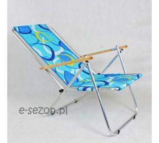 krzesło plażowe aluminiowe składane
