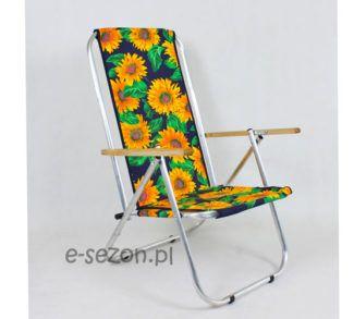Leżak mocny tradycyjny - słoneczniki