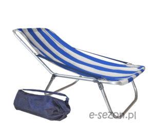 Tradycyjny leżak plażowy składany do torby