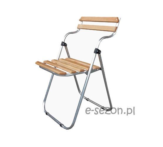 lekkie krzesło składane, drewniane