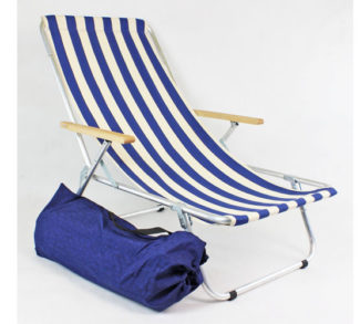 Lekki leżak plażowy
