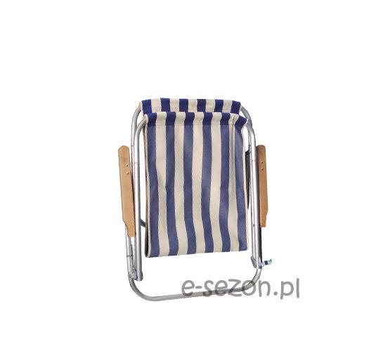 leżak plażowy złożony