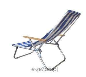Tradycyjny leżak plażowy składany do pokrowca