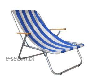Tradycyjny leżak plażowy składany do worka