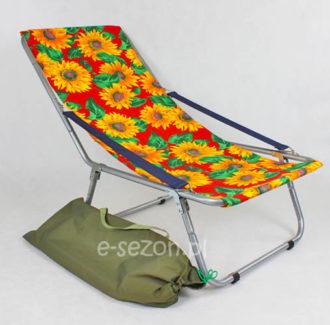Lekki leżak plażowy składany do torby