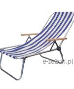 lekki leżak plażowy aluminiowy