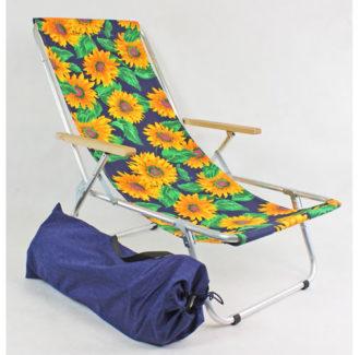 lekki leżak słonecznik