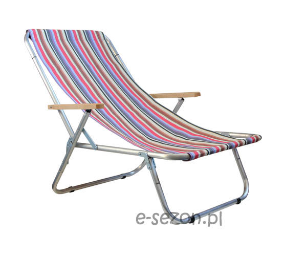 Lekki, wytrzymały leżak plażowy B