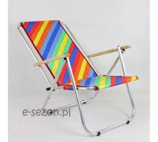 Dwupozycyjny leżak plażowy