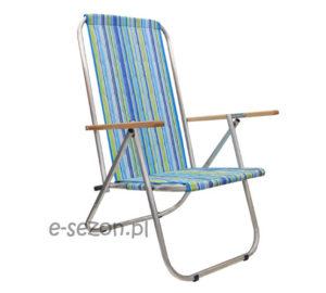 Wytrzymałe krzesło plażowe aluminiowe