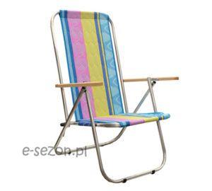 krzesło plażowe aluminiowe, składane na pół