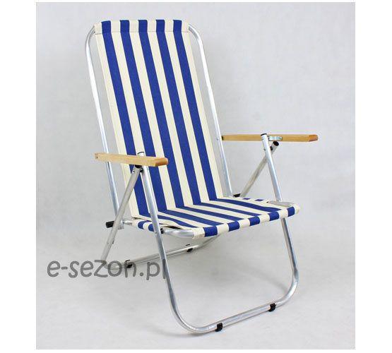 Tradycyjne krzesło plażowe aluminiowe