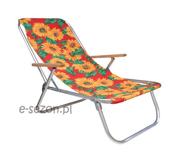 mocny leżak plażowy składany