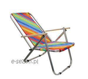 Fajny, wytrzymały leżak / krzesło plażowe