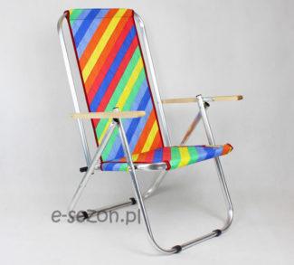 składane krzesło plażowe wykonane z aluminium