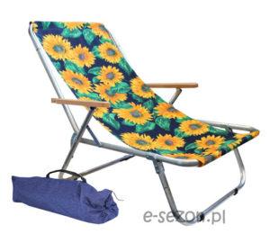lekki składany leżak na plażę