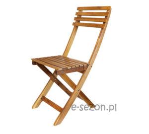 Krzesło z drewna akacjowego