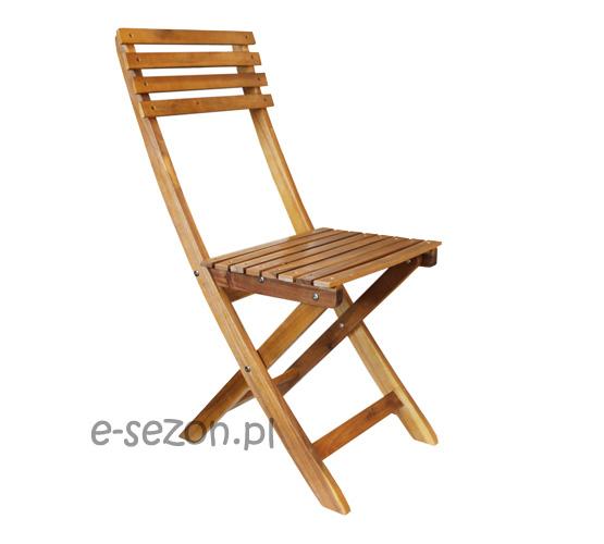 Składane krzesło z drewna akacjowego