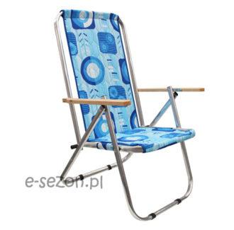 Krzesło plażowe składane na pół