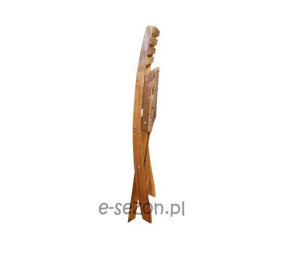 Złożone krzesło drewniane