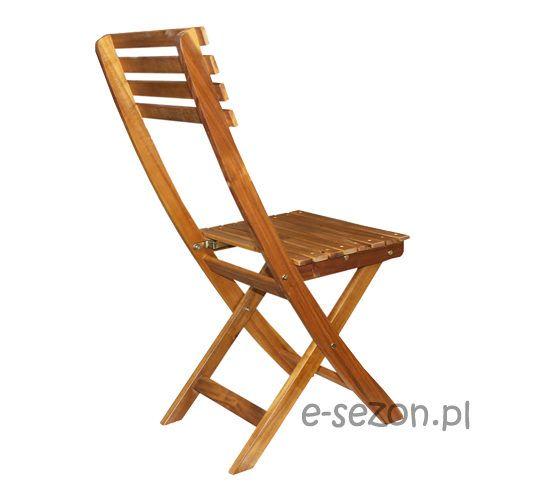 drewniane krzesło składane