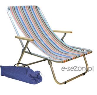 leżak aluminiowy na plażę