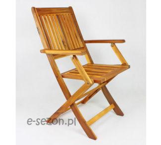 Krzesło składane drewniane