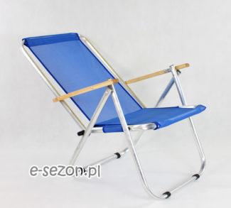 leżak na plażę z siatki