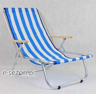 leżak plażowy z siatki - tradycyjny